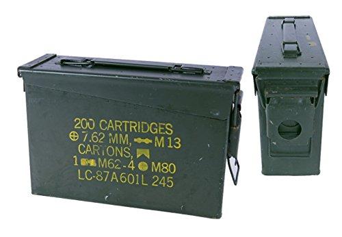 Boîte à munitions américaine Taille 1 - En métal - Couleur olive