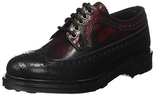 Cult Sabbath Low 491, Scarpe Stringate Basse Oxford Donna, Multicolore (Black/Bordeaux), 39 EU