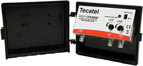 Tecatel AMP-LTE305F - Amplificador mástil 30 dB UHF-UHF LTE, Color Blanco