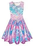 Mermaid Tail Dress Sleeveless for Little...