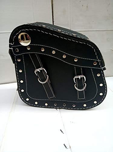 SaharaSeats Fancy Type Travelling Saddle Bag for Royal Enfield All Models, Universal(Black)
