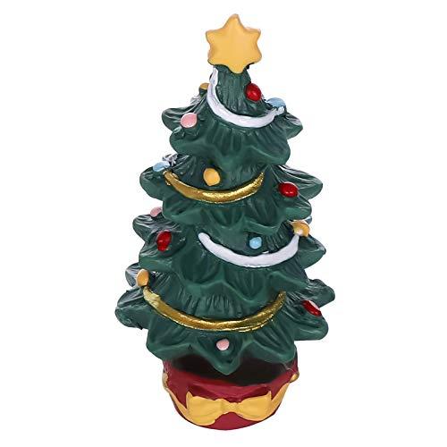 QULONG Decoraciones de jardín de Acuario Decoración de pecera - Mini árbol de Navidad Decoración Linda Decoración de árbol de Navidad de Resina Adornos para Navidad Fiesta navideña