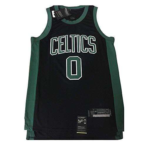 xisnhis Camisetas NBA,Camiseta de Baloncesto para Hombre,Jersey Hombre - NBA Boston Celtics 0# Tatum Bordado de Malla de Baloncesto Swingman Jersey(TAMAÑO: S-XXL)