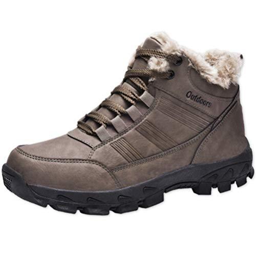Botas de Hombre Calzado Deportivo de Invierno cálido Calzado de Cuero Impermeable...