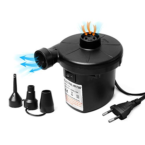 Elektrische Luftpumpe, Multifunktion Elektropumpe Inflator Deflator Mit 3 Luftdüse Luftpumpe Für Luftmatratze, Pools, Aufblasbares Spielzeug Usw