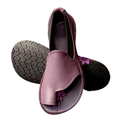 Teekit Frauen Bequeme Plattform Sandale Schuhe Laides Strand Reise Schuhe für den Sommer,Lila 37