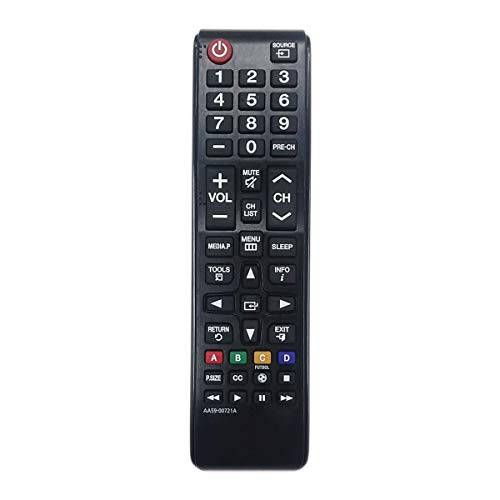 Aurabeam Replacement TV Remote Control AA59-00721A for Samsung Smart HD 4K LED Televisions Compatible with Most Samsung Model TVs (Basic Functions) (AA5900721A)