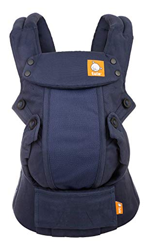 Baby Tula Coast Explore Mesh Baby Carrier 7 – 45 lb, Adjustable Newborn to Toddler Carrier, Multiple Ergonomic Positions Front and Back, Breathable – Coast Indigo, Navy Blue
