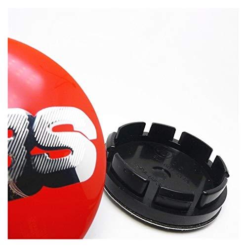 xy Tapas para Llantas de Coche 4 unids Rueda Central Cap HUB 56mm Compatible con BBS 16 Pulgadas Golf Mk3 Neumáticos Capas de Estilo Capas Cubierta Cubierta Logotipo Emblema Insignia 53mm Emblema