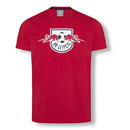 RB Leipzig Essential T-Shirt, Rot Unisex Medium T-Shirt, RasenBallsport Leipzig Sponsored by Red Bull Original Bekleidung & Merchandise