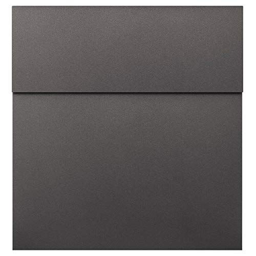 MOCAVI Box 570 Design brievenbus Antraciet Metallic Grijs (DB 703) hoge kwaliteit muur postbus weerbestendig roestvrij modern
