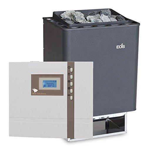 Well Solutions® Sauna Ofen EOS Thermat 9 kW Made in Germany mit Design Aussensteuerung EOS D1