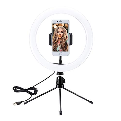TTAototech 10 Ring Light with 56.99 Height Foldable Tripod Stand & Phone Holder, Selfie Ring Light with 16 Colors Modes and 360 degree rotation for Makeup/Vlog/Live Streaming/Tiktok