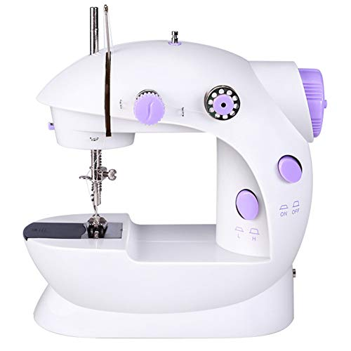 Best Review Of Mini Beginner Sewing Machine, Household Portable Electric Embroidery Machine with Lam...