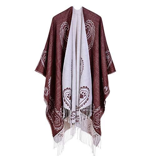 WEIYIM Winter Schal Schals Frauen Schal Pashmina Kaschmir Ponchos Und Capes Top Qualität Plaid Für Damen Pashmina Für Kleid Luxusmarke Schals