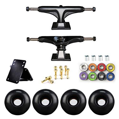 Borstu Skateboard Trucks Set di Ruote da Skateboard Skateboard ASSE Ponte Skateboard Staffa Skateboard Hardware PU Ammortizzatore