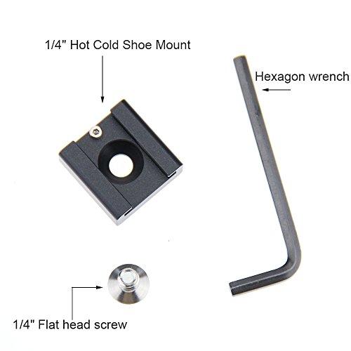 CAMVATE 2 Pieces Cold Hot Shoe for DSLR Rig Flash Light Microphone Blackmagic Cinema Camera