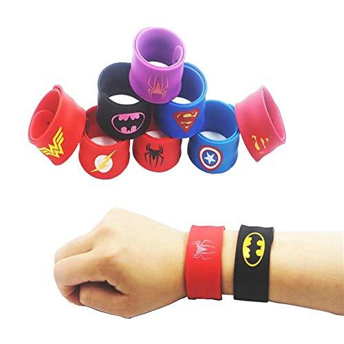 SouthStar Bracelets pour Enfants, 10pcs Slap Bracelets pour Enfants Slap Bracelets Cadeau pour Fête d'anniversaire Invited