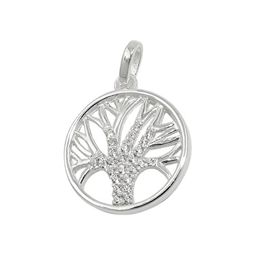 Pendente 93731 - Tree Of Life 15 mm with Zirconias Silver 925