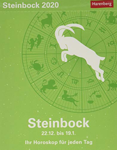 Steinbock Sternzeichenkalender. Tischkalender 2020. Tageskalendarium. Blockkalender. Format 11 x 14 cm