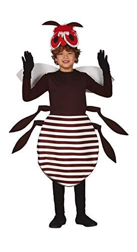 Guirca Mosquito Kostüm für Kinder - Größe 110-146 - Mücke Fliege Fasching Karneval, Größe:128/134