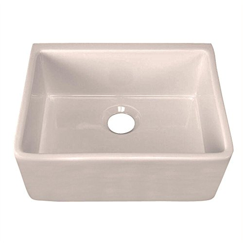 Big Sale Best Cheap Deals Belle Foret BFF3KITBI Apron Front Single Bowl Fireclay Kitchen Sink, Bisque