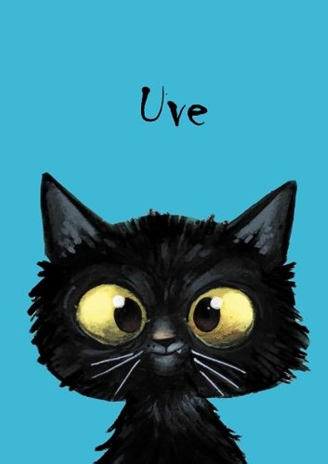 全国右れんがUve: Uve - Katzen - Malbuch / Notizbuch / Tagebuch: A5 - blanko