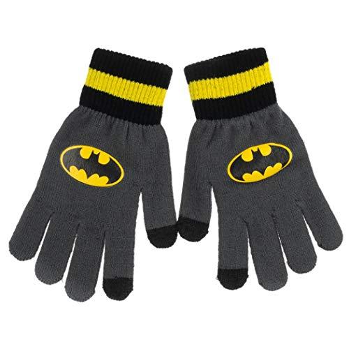 Luvas unissex para adultos com símbolo do Batman com capacidade de enviar SMS