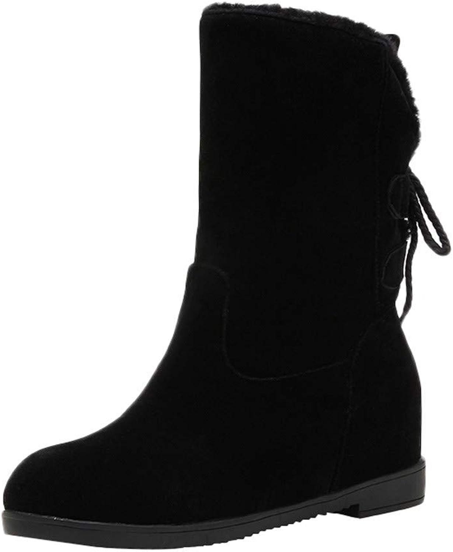 Brilliant sun Suede Ankle Boots Women Lace Up Flat Winter Non-Slip Fleeces Keep Warm shoes