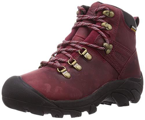 KEEN Women's Pyrenees-W Hiking Boot, Tibetan Red/Black, 8