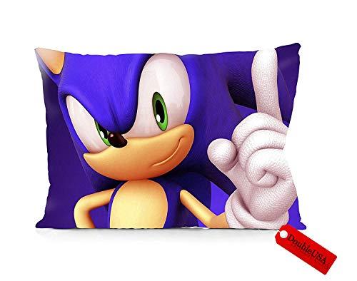 "DoubleUSA Sonic The Hedgehog Pillowcases Both Sides Print Zipper Pillow Covers 20""x30"""
