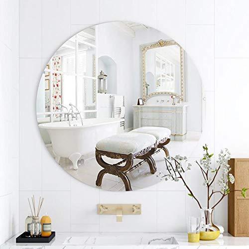 Wandspiegel, badkamerspiegel, HD-spiegel, rond, wand, kledingspiegel, spiegeldecoratie, zonder lijst, voor ingang, slaapkamer, 311 A 40cm