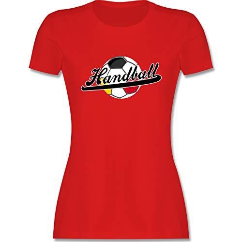 Handball WM 2021 - Handball Deutschland - M - Rot - t-Shirt Handball Deutschland - L191 - Tailliertes Tshirt für Damen und Frauen T-Shirt