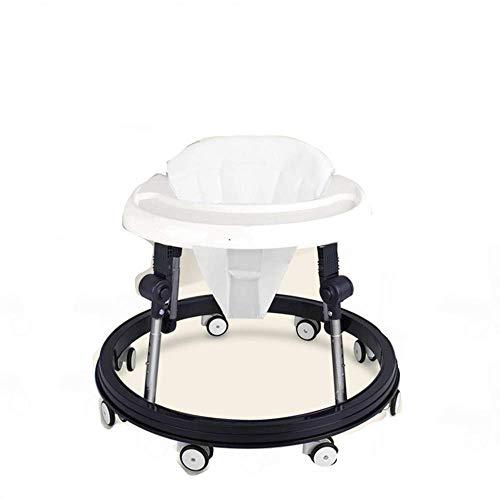 HZY Andador Multifuncional para Bebés 6-18 Meses El Niño Empuja Puede Sentarse Plegable Antivuelco,White