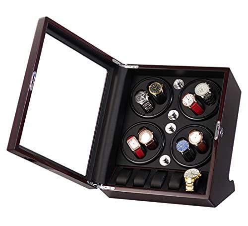 LSRRYD Watch Winder Cajas Giratorias, Caja Giratoria para Relojes Automatico Watch, Mira enrollador para 8+5 Relojes,Motor Silencioso,Apariencia de Pintura de Piano,4 Modos De Rotación