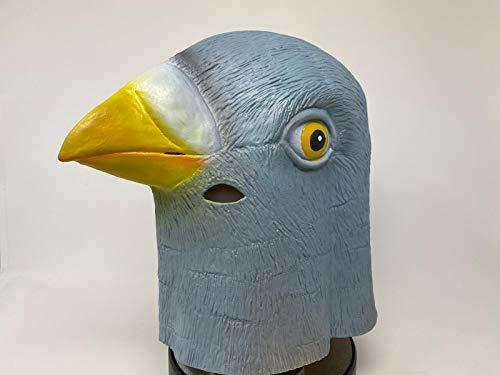 Rubber Johnnies TM Máscara de látex Cabeza copleta Paloma película de Calidad pájaro Animal para Disfraz Fiesta
