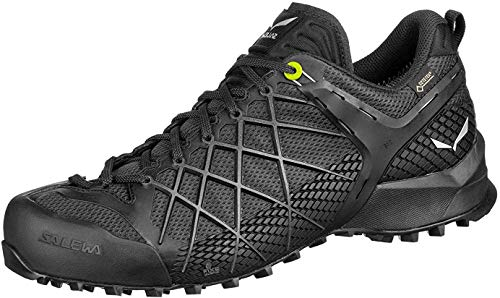 Salewa MS Wildfire Gore-TEX, Zapatos de Senderismo Hombre, Negro (Black Out/Silver), 43...