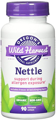 Oregon's Wild Harvest Nettle (Freeze Dried) Organic Supplement, 90 Count (Pack of 3)