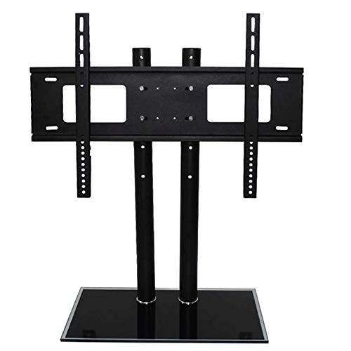 Hoogte en hoek verstelbare Multi-Function gehard glas metalen frame Floor TV meubel, LCD TV Bracket Plasma TV Bracket, for meerdere media-apparaten