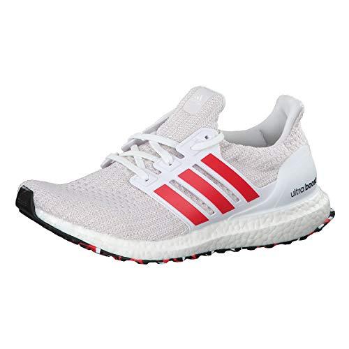 Adidas Men's Ultraboost Running Shoes, White (Ftwr White/Active Red/Chalk White), 7.5 UK