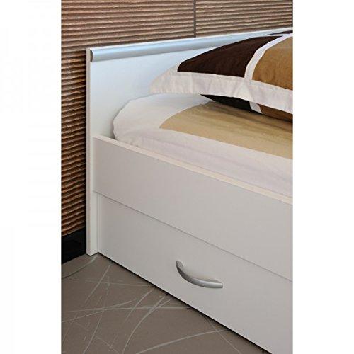 Funktionsbett Alawis 90*200 cm weiß inkl 2 Roll-Bettkästen Kinderbett Jugendbett Jugendliege Bettliege Bett Jugendzimmer Kinderzimmer 1251 - 3