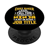 Chief Baker Job Title - Funny Chief Cook Chef PopSockets PopGrip Intercambiable