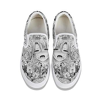 BGETE Mens Designer Ahegao- Canvas Shoes Print Slip-Resistant Sport Shoes