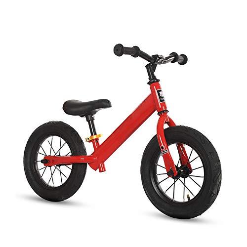 MEETGG Bicicletas de equilibrio para niños de acero de alto carbono para niños, sin pedal niño bicicleta altura ajustable, bicicleta ligera de entrenamiento deportivo