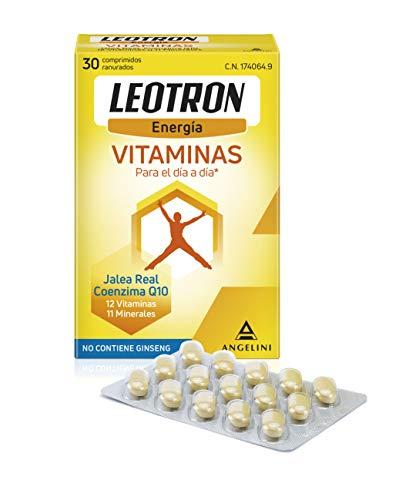 LEOTRON Vitaminas - 30 comprimidos- Energía que se nota - Complemento alimenticio con Jalea Real, Coenzima Q10, 12 vitaminas y 11 minerales. Envase para 30 días. A partir de 12 años.