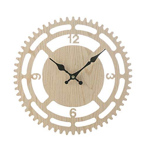 FFDGHB Reloj De Pared, Reloj De Pared Romano Antiguo De Madera, Reloj De Pared Decorativo Digital, Sala De Estar Creativa, Reloj De Casa 30 * 30 * 4.8 In