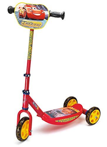 Smoby - Cars Roller - 3 Rädriger Scooter, höhenverstellbaren Lenker, stabiler Metallrahmen, einfachen Transport, für Kinder ab 3 Jahren