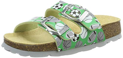 Superfit Jungen FUSSBETTPANTOFFEL Pantoffeln, Grün (Grün 70), 36 EU