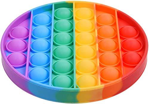 ANSENI Juguete Sensorial Pop It, Antiestres ,Desestresantes, Mejora Motricidad Fina, Hecho de Silicona de Grado Alimentación, Lavable (Multicolor)