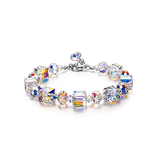 SGSG Romance Pulsera con Cristales, Simple Elegancia Moderna con...